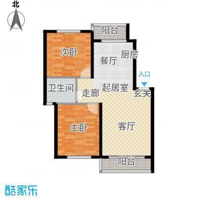 华茂依山君庭3号楼两室两厅一卫91.94平方米户型2室2厅1卫