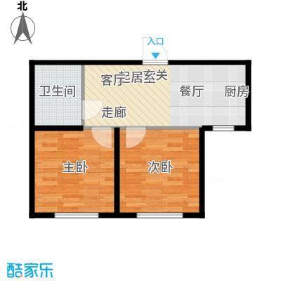 华茂依山君庭4号楼57.27平方米户型