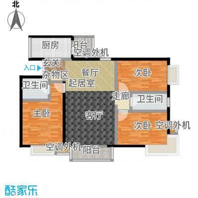 米罗公元・方丹苑Ⅱ116.68㎡3号楼D户型