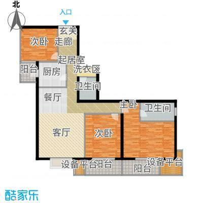 翠微生活-静源居148.80㎡3室1厅2卫1厨户型