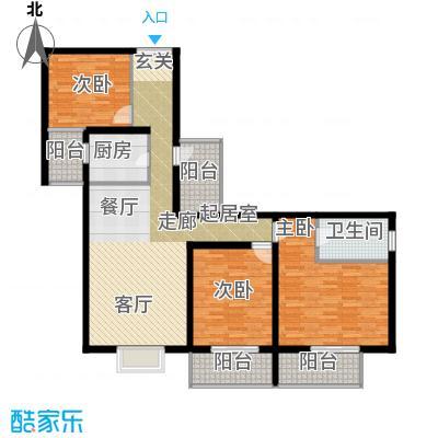 翠微生活-静源居123.50㎡3室1厅2卫1厨户型