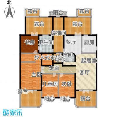 万泉新新家园30号楼中间单元顶层户型