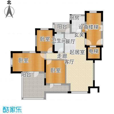 金地檀溪7层-6F户型1卫1厨