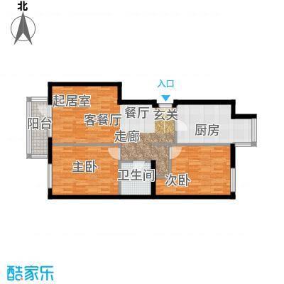 北京华侨城83.10㎡A2-8号楼FG户型2室1厅1卫1厨