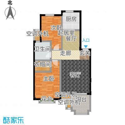 金石明珠89.00㎡E户型 2室2厅1卫 89㎡户型