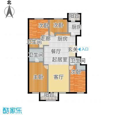 唐宁ONE180.00㎡9号楼户型4室2厅3卫