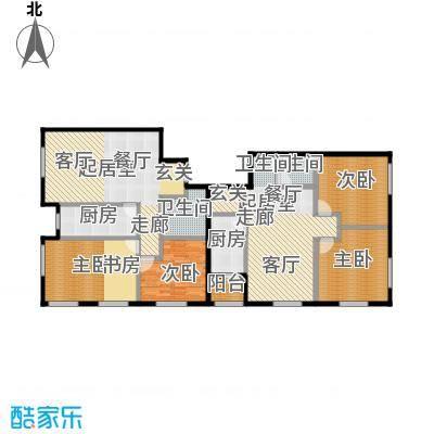唐宁ONE90.00㎡1号楼1单元二室户型10室
