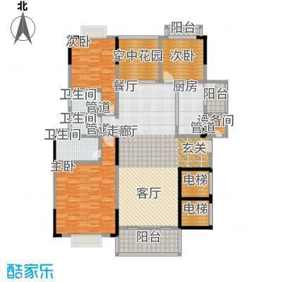 星湖尚景苑137.69㎡2号楼03户型3室2厅2卫