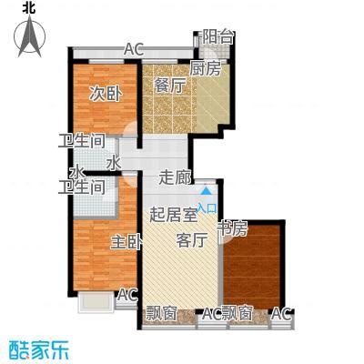金泰先锋138.04㎡J户型3-14层三室二厅二卫户型