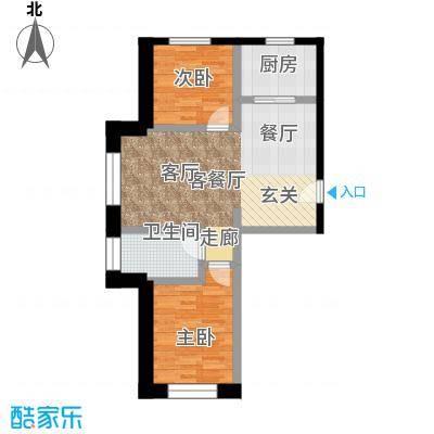 盈胜幸福里2室2厅1卫1厨82.40㎡户型2室2厅1卫