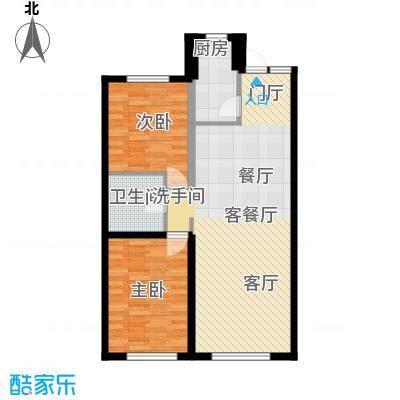 盈胜幸福里2室2厅1卫1厨93.64㎡户型2室2厅1卫