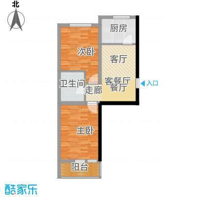 盈胜幸福里2室2厅1卫1厨67.19㎡户型2室2厅1卫