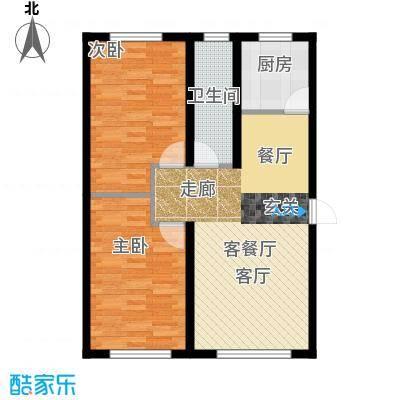 盈胜幸福里2室2厅1卫1厨80.32㎡户型2室2厅1卫