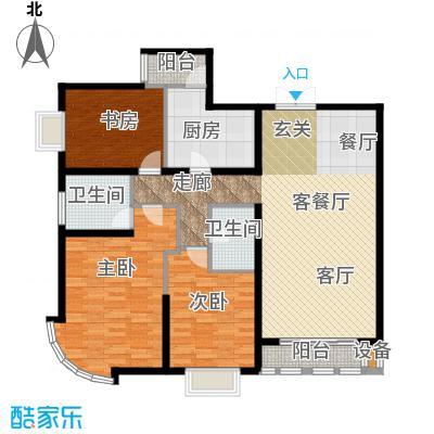新华联丽景・珊瑚湾G4户型三室二厅二卫户型