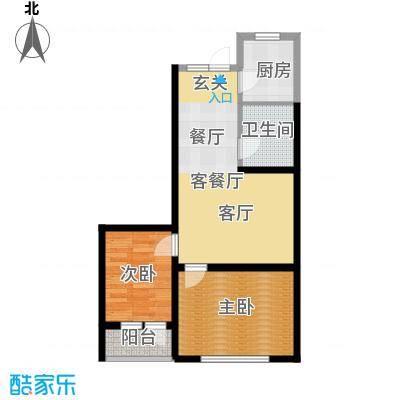 盈胜幸福里2室2厅1卫1厨73.75㎡户型2室2厅1卫