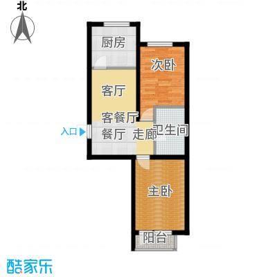 盈胜幸福里2室2厅1卫1厨64.67㎡户型2室2厅1卫