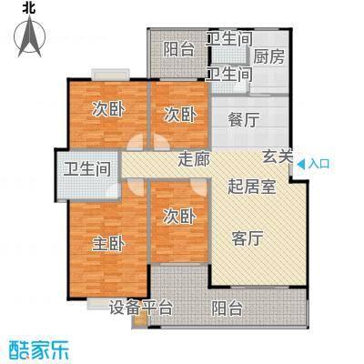 锦天・生态城145.32㎡J户型4室2厅2卫