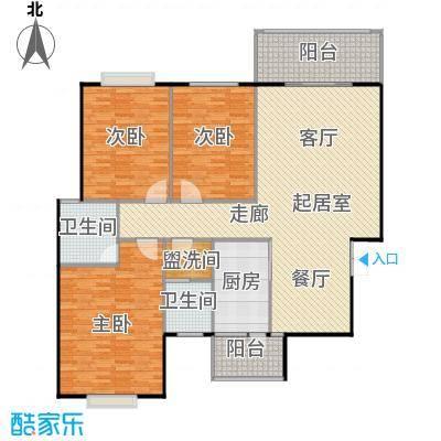 锦天・生态城131.83㎡F户型3室2厅2卫