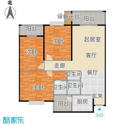 锦天・生态城136.22㎡A户型3室2厅2卫