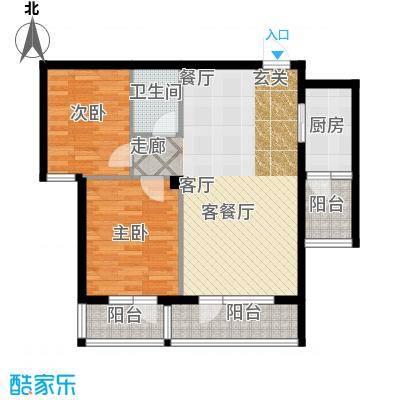 安邦北湾一期二室二厅一卫 约79-82㎡户型