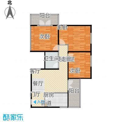 甘露晴苑104.45㎡三室一厅户型