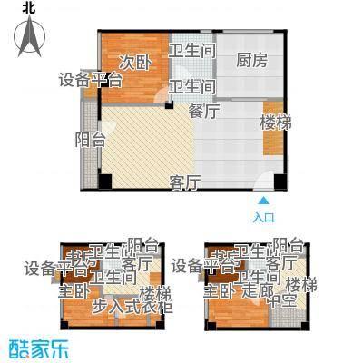 万科金阳国际公寓85.00㎡E户型跃层户型