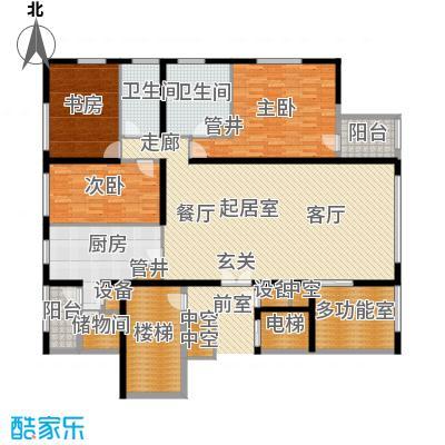 US联邦公寓229.25㎡l户型4室2厅2卫户型