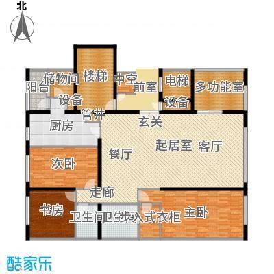 US联邦公寓224.22㎡k户型4室2厅2卫户型