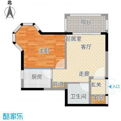 1+8时代广场61.27㎡A1户型1室1厅1卫