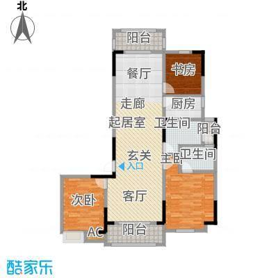 1+8时代广场142.42㎡C户型3室2厅2卫