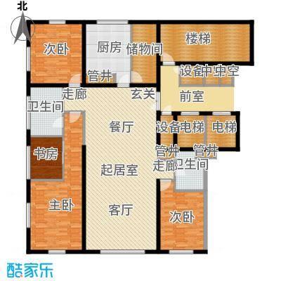 US联邦公寓199.81㎡f户型3室2厅2卫户型