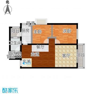 阿曼寓所98.00㎡2号楼D户型二室二厅户型