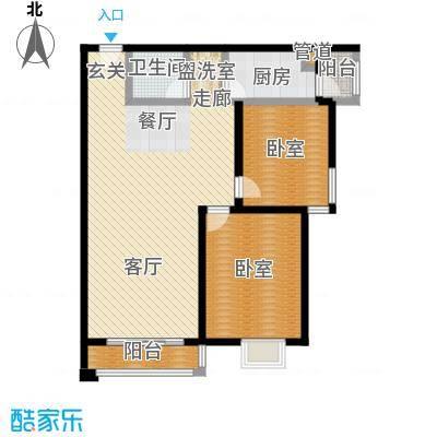 阿曼寓所98.00㎡2号楼Q户型二室二厅户型