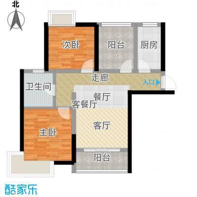 桂丹颐景园88.68㎡E1a户型2室1厅1卫1厨