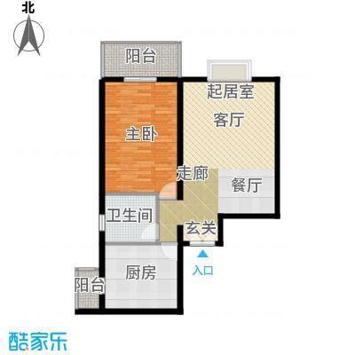 翠微生活-静源居83.94㎡1室1厅1卫户型
