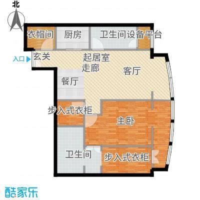 PARK北京126.00㎡B户型1室2卫1厨