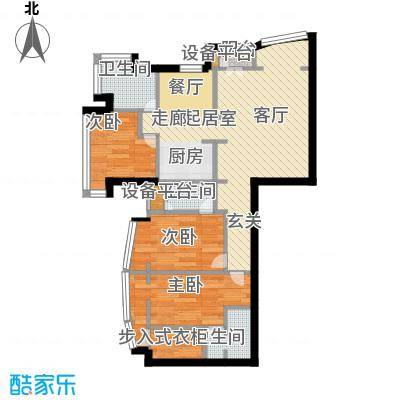 PARK北京64.00㎡D1户型3室3卫
