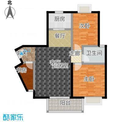 三元极第82.00㎡3房2厅1卫(H4)户型