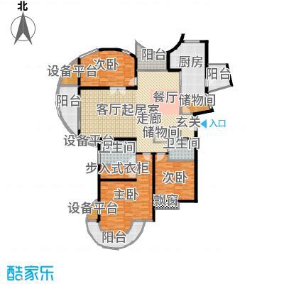 金桥爱建园135.28㎡房型: 三房; 面积段: 135.28 -147.29 平方米; 户型