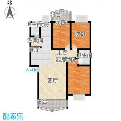 时代名城126.09㎡A3户型3房2厅2卫户型3室2厅2卫