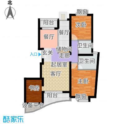 金桥爱建园103.30㎡房型: 二房; 面积段: 103.3 -119.42 平方米; 户型