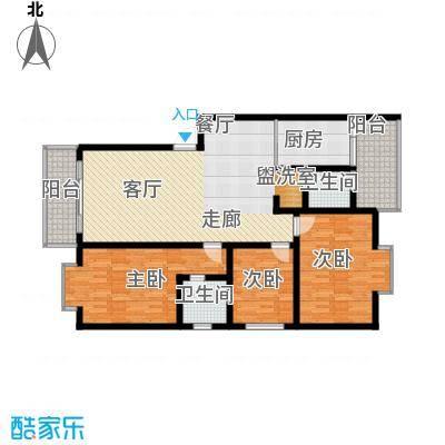 宏鑫锦江国际125.94㎡6#楼A户型3室2厅2卫