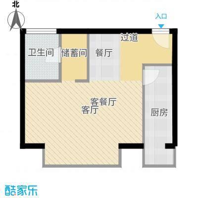 悠唐・麒麟公馆70.71㎡E户型10室