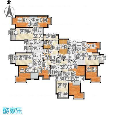 润泽悦溪88.00㎡F单元标准层平面图户型8室4厅4卫4厨