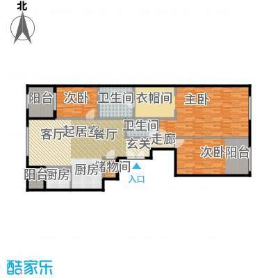 唐宁ONE180.00㎡1号楼1单元三室户型10室