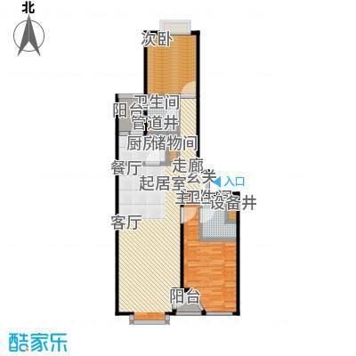 FESCO国际公寓(外企公寓)127.11㎡两室两厅两卫 户型