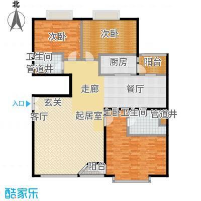 FESCO国际公寓(外企公寓)165.31㎡3室2厅2卫1厨户型