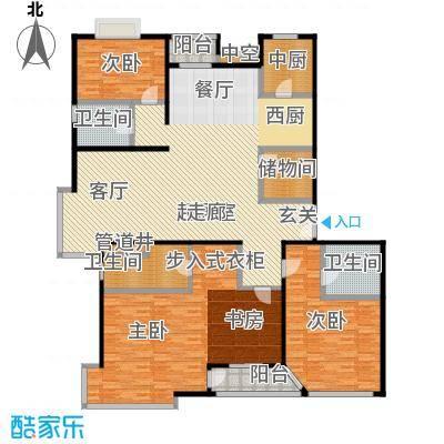FESCO国际公寓(外企公寓)201.53㎡4室2厅2卫1厨户型