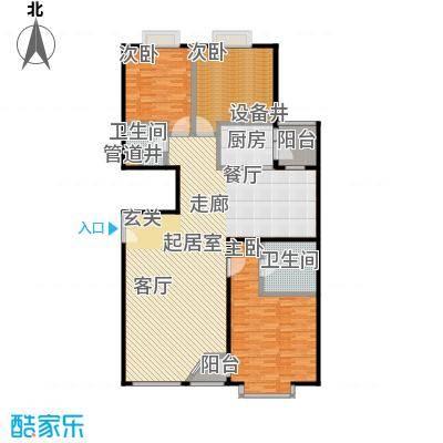 FESCO国际公寓(外企公寓)165.31㎡三室两厅两卫户型
