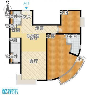 FESCO国际公寓(外企公寓)144.33㎡2室2厅2卫1厨户型